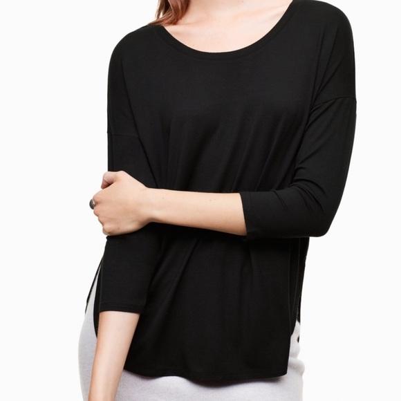 🎀 Babaton Aritzia Black Long Sleeve Top